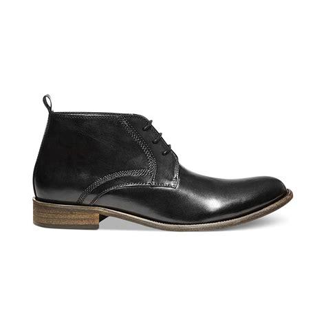 steve madden mens chukka boots steve madden boro chukka boots in black for lyst