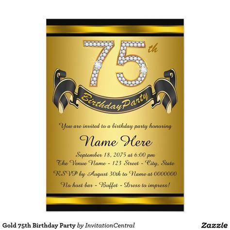 Sle Invitation Card For 75th Birthday 17 Best Ideas About 75th Birthday Invitations On Pinterest