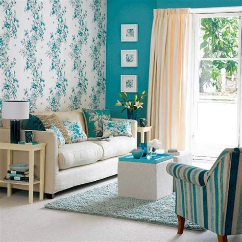 Teal Wallpaper For Living Room by Feature Wall Living Room Housetohome Co Uk