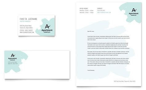 Apartment Business Card Letterhead Template Design Letterhead And Business Card Templates