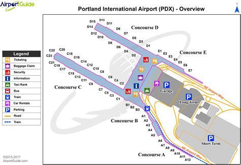 portland airport map airport maps charts diagrams portland international airport kpdx pdx airport guide