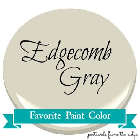 favorite paint color benjamin edgecomb gray postcards from the ridge