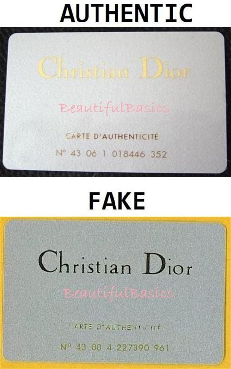 Dior Gift Card - gold lettered authenticity cards purseforum