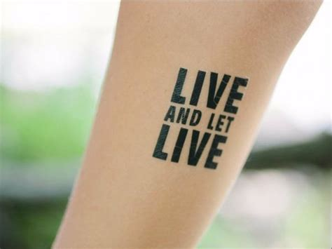 live and let live tattoo beautiful live and let live temporary mytat