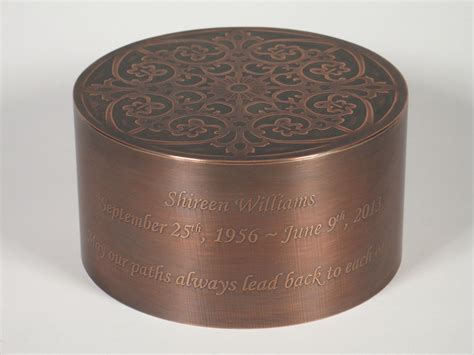 Handcrafted Urns - custom handcrafted copper cremation urn by greco