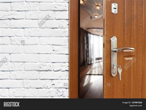 Open Locked Interior Door Half Opened Door To A Living Room Door Handle Door Lock Lounge Door Half Open Opening Door