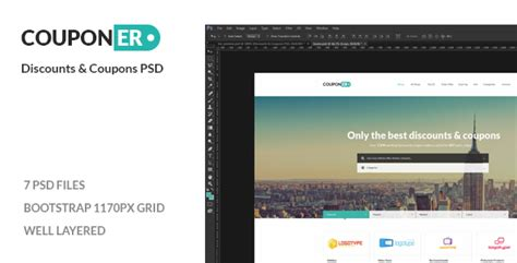 themeforest coupon theme couponer coupons discounts psd by pebas themeforest