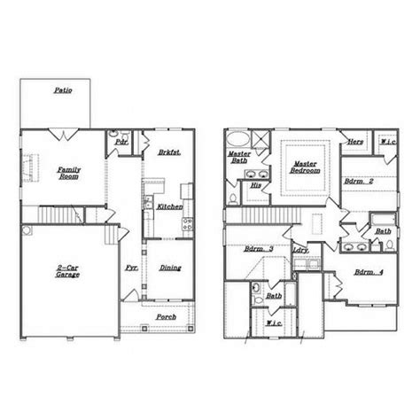 house design blueprints family house plans 4 bedrooms home deco plans