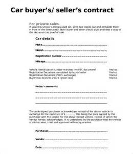 template for selling a car 15 sales contract templates free sle exle