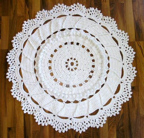 25 best ideas about crochet doily rug on