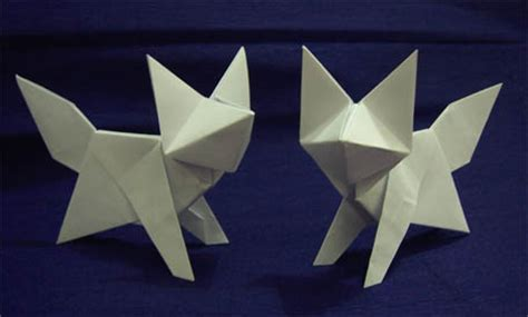 How To Make A Fox Origami - origami fox by arturoeduardo on deviantart