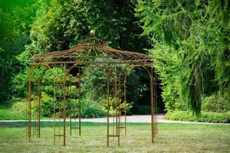 gartenpavillon metall stabiler gartenpavillon rost metall 216 250cm pavillon eisen
