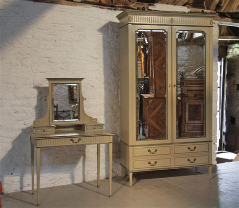 Bedroom Suite With Armoire Painted Armoire Wardrobe Dressing Table Chair And
