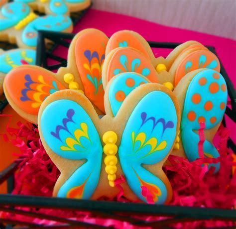 cookie clinic butterfly cookies garden
