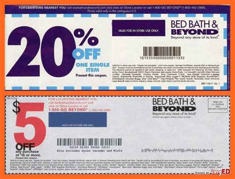 Bed Bath And Beyondcoupon by Bed Bath Beyond Coupons Total 10 Coupons 4 X 5 15 And 6 X 20 Image On Imged
