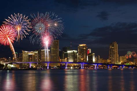 fireworks new years miami on high celebrating the fourth of july by boat