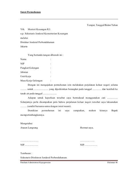 contoh surat cuti bagi pns 28 images lama dan persyaratan cuti haji