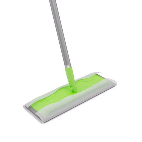 deluxe static floor wipe cleaning mop and handle 102734