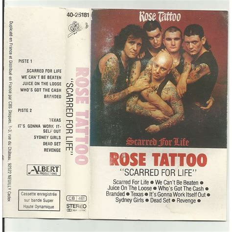 rose tattoo scarred for life scarred for by with libertemusic