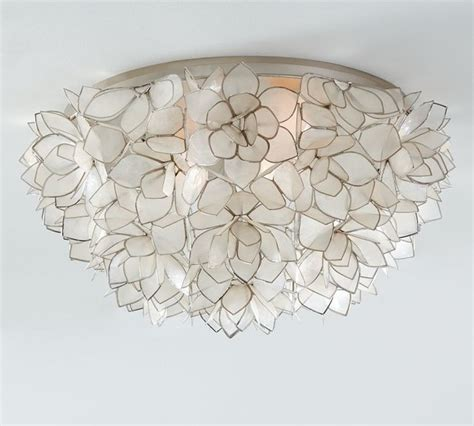 capiz oversize flushmount contemporary flush mount