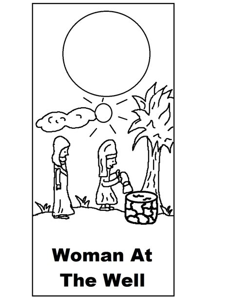 printable coloring pages woman at the well free samaritan woman at well coloring pages