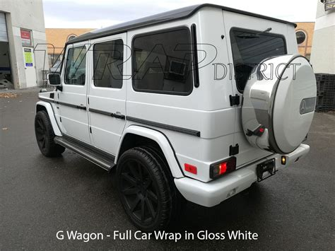 wrapped g wagon g wagon wrapped in gloss white wrap district
