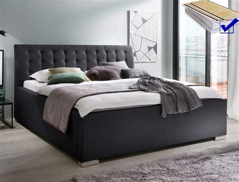 schlafzimmer mit polsterbett komplett polsterbett mit bettkasten larissa 180x200 anthrazit rost