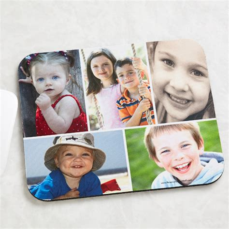 Photo Collage Mouse Mat by 4462 Photo Collage Personalized Mouse Pad