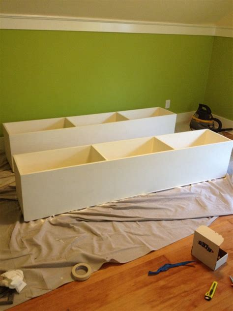 diy under bed storage diy farmhouse bed from 2 ana white plans