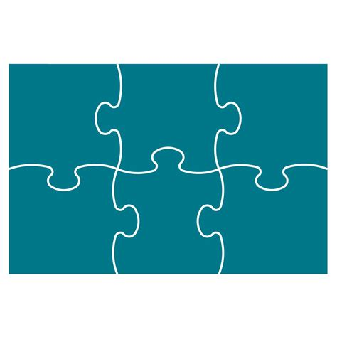 Puzzle Template 6 Pieces Clipart Best 6 Jigsaw Puzzle Template