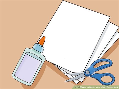 How To Make Your Own Scrapbook Paper - 3 ways to make your own scrapbook wikihow