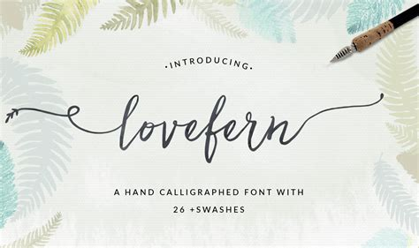 Wedding Font With Tails by Lovefern A Modern Calligraphy Swashes Font