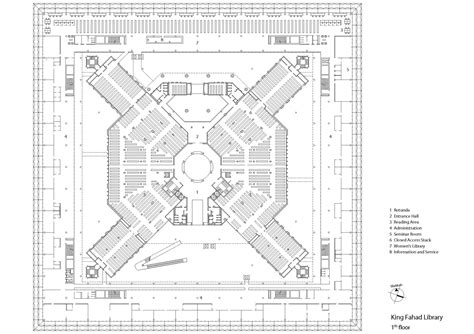 Drawing Floor Plan gallery of king fahad national library gerber
