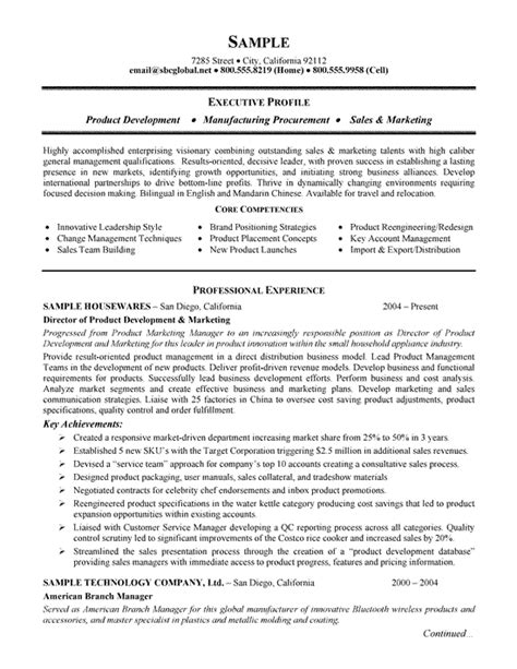 Resume For Manufacturing by Product Manufacturing Resume Exle