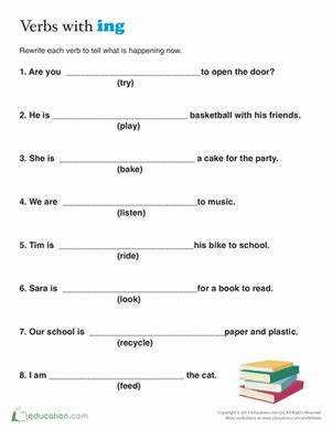 Simple Present Tense Worksheets For 2nd Grade by Present Tense For Worksheet Education