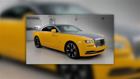 golden rolls royce rolls royce wraith in golden yellow is another bespoke