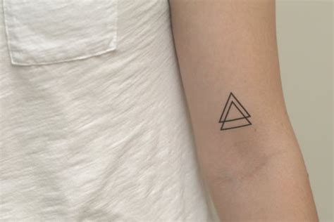 temporary tattoo double triangle