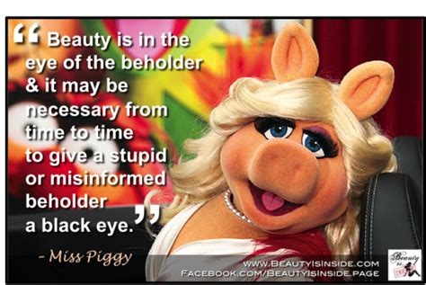 Kermit And Miss Piggy Meme - miss piggy beauty is inside