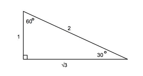 triangle pattern rule trigonometry special angle triangles the numerist