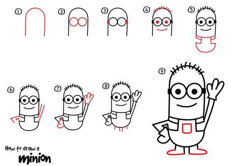 how to draw a minion dabbler 9 steps daily doodly