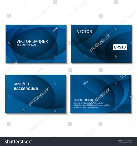 card banner template set four business cards design template stock vector