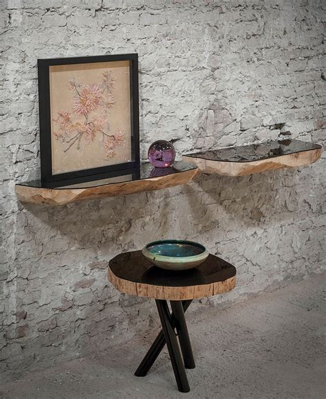 Tree Trunk Shelf tree trunk decor ideas tables stools mirrors and