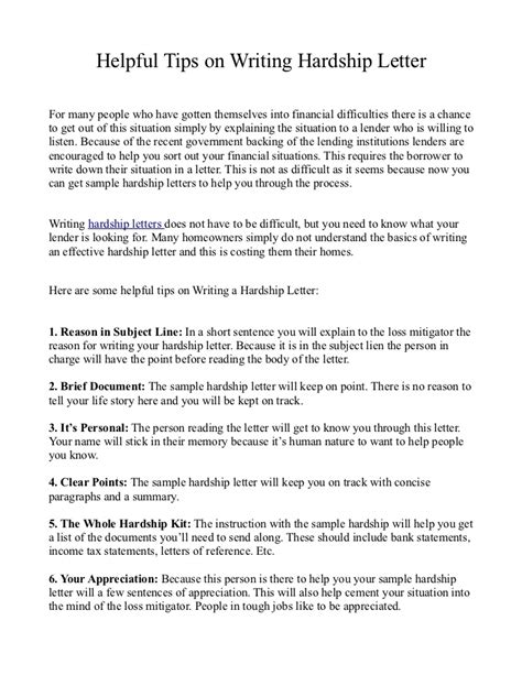 Hardship Letter To Judge Helpful Tips On Writing Hardship Letter
