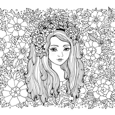 coloring pages flower girl 1000 images about colorir on pinterest dover