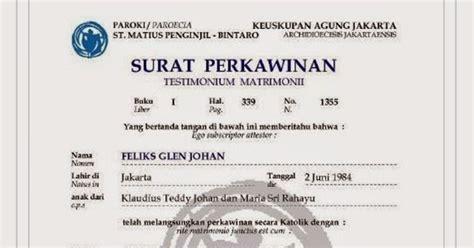 contoh surat perkawinan dari gereja contoh surat