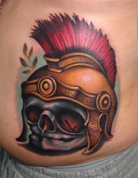 roman warrior tattoo designs fetal skull soldier helmet by reese tattoonow