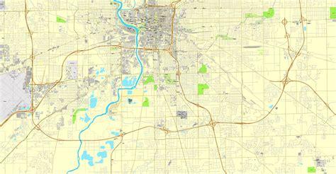 printable map indiana indianapolis printable map indiana us city plan map