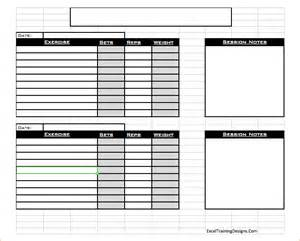 Free personal training excel workout log 1 etd