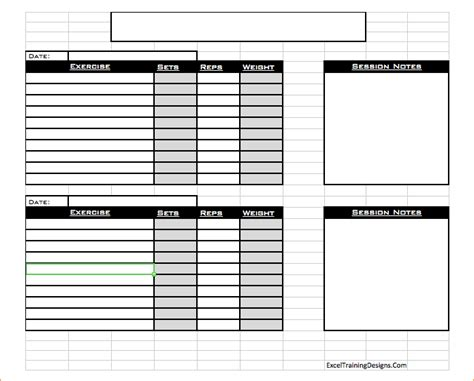 workout log template excel workout log thevictorianparlor co