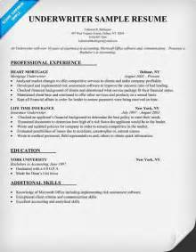 Insurance Underwriter Resume by Underwriter Resume Sle Carol Sand Resume Sles